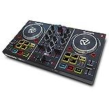 Numark Party Mix - 2 Kanal Plug und Play DJ Controller für Serato DJ Lite mit eingebautem Audio Interface und Kopfhörer Cueing, Pad Performance Steuerung, Crossfader, Jog Wheels und Light Show