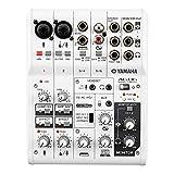 Yamaha AG06 – Mehrzweckmixer mit USB-Anschluss für Audio, Streaming und Aufnahmen – Weiß