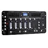 resident dj Kemistry 3BK - DJ-Mixer, 4-Kanal Mischpult, DJ-Mischpult, Bluetooth, USB-Port, SD-Slot, MP3-fähig, 2 x Cinch-Phono/Line-Eingang, XLR-/Klinken-Eingänge, Rackmontage, schwarz
